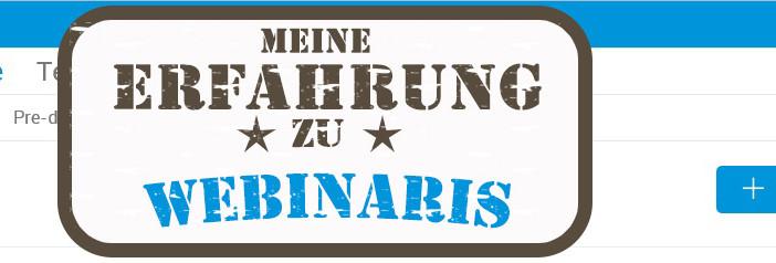Webinaris Erfahrung Banner
